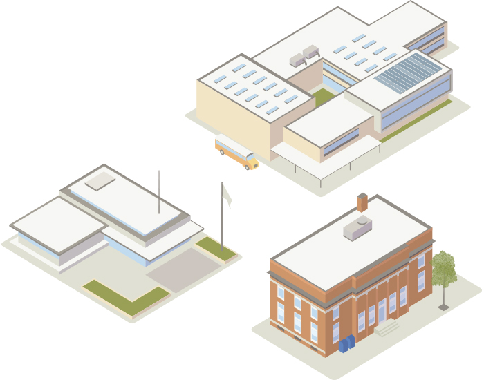 Roof Inspections 101 schools roof illustrations