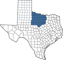 Texas map of Scot's territory (Fort Worth area)